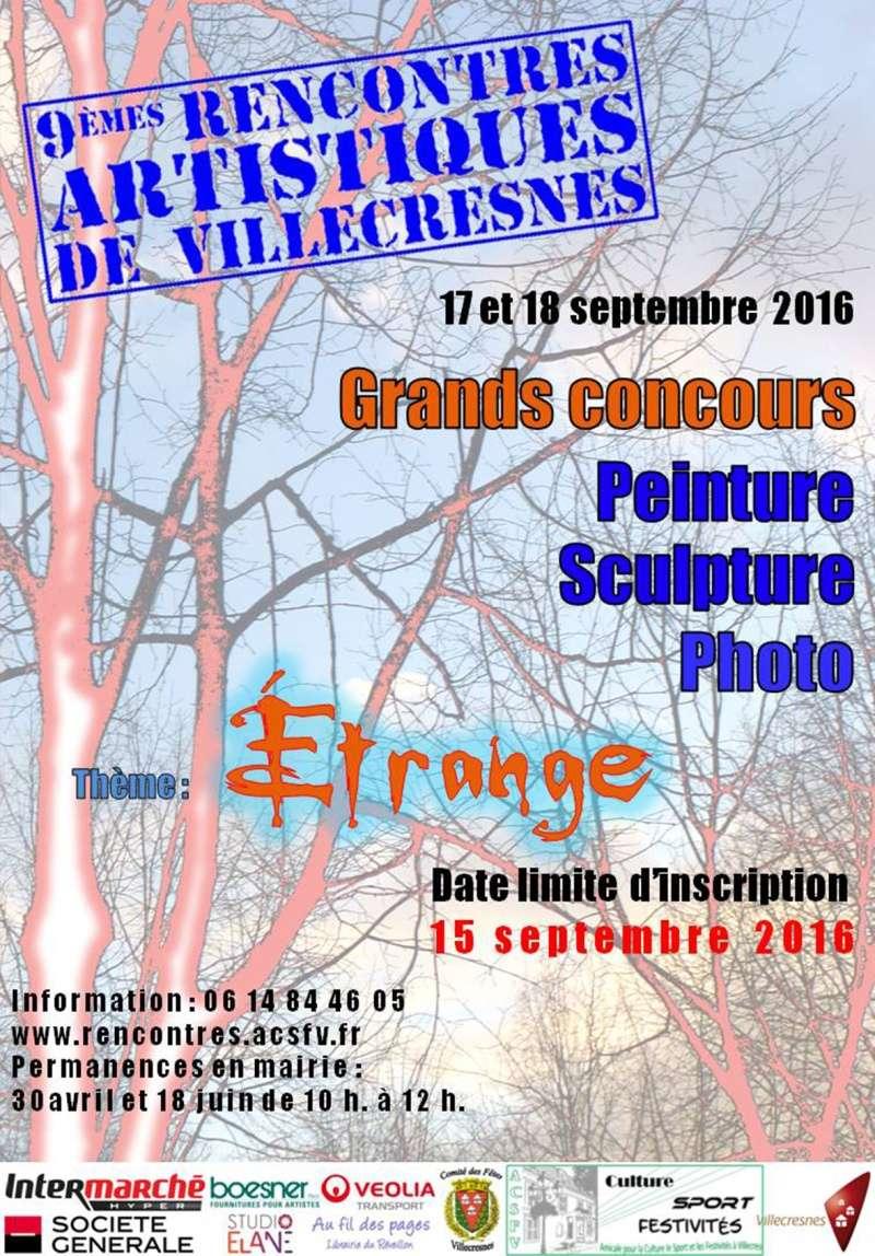 6 concours pour peintres, sculpteurs, photo à Villecresnes Affich10