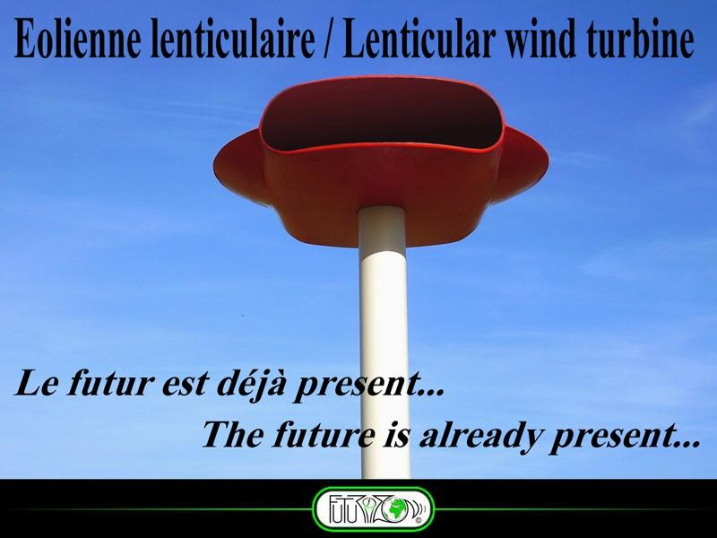 L'éolienne lenticulaire change totalement le paysage éolien. Pres210