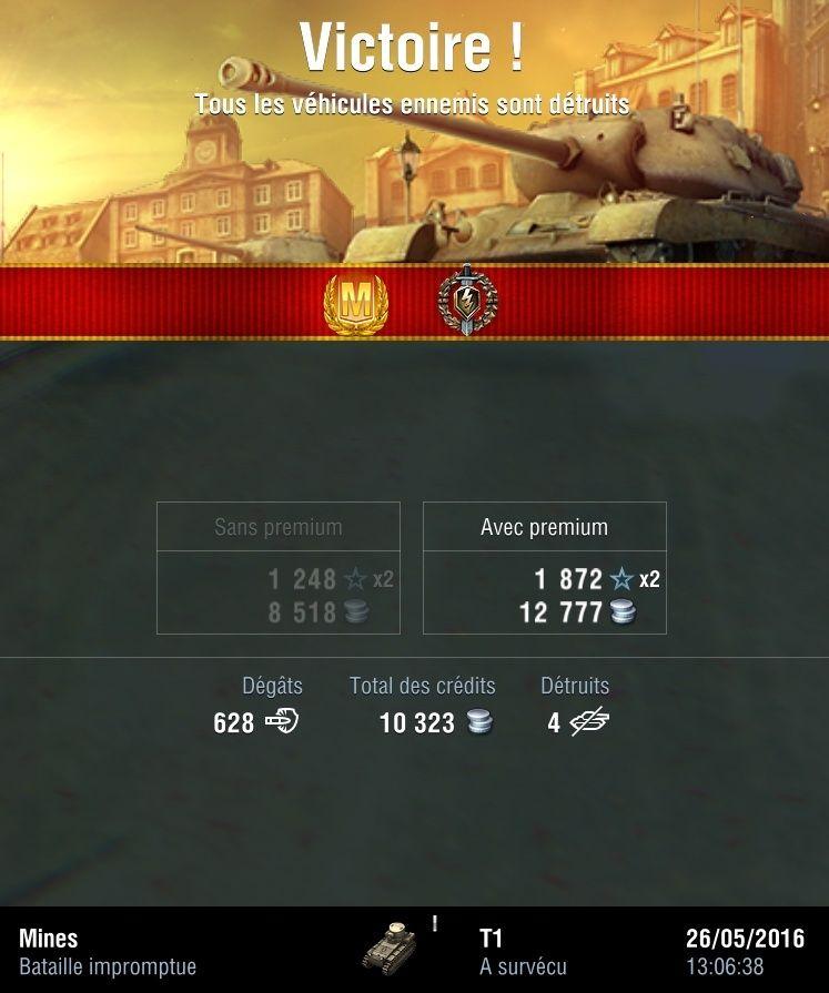 T1 - Je sais c'est un niveau 1... mais j'adore ce tank T110