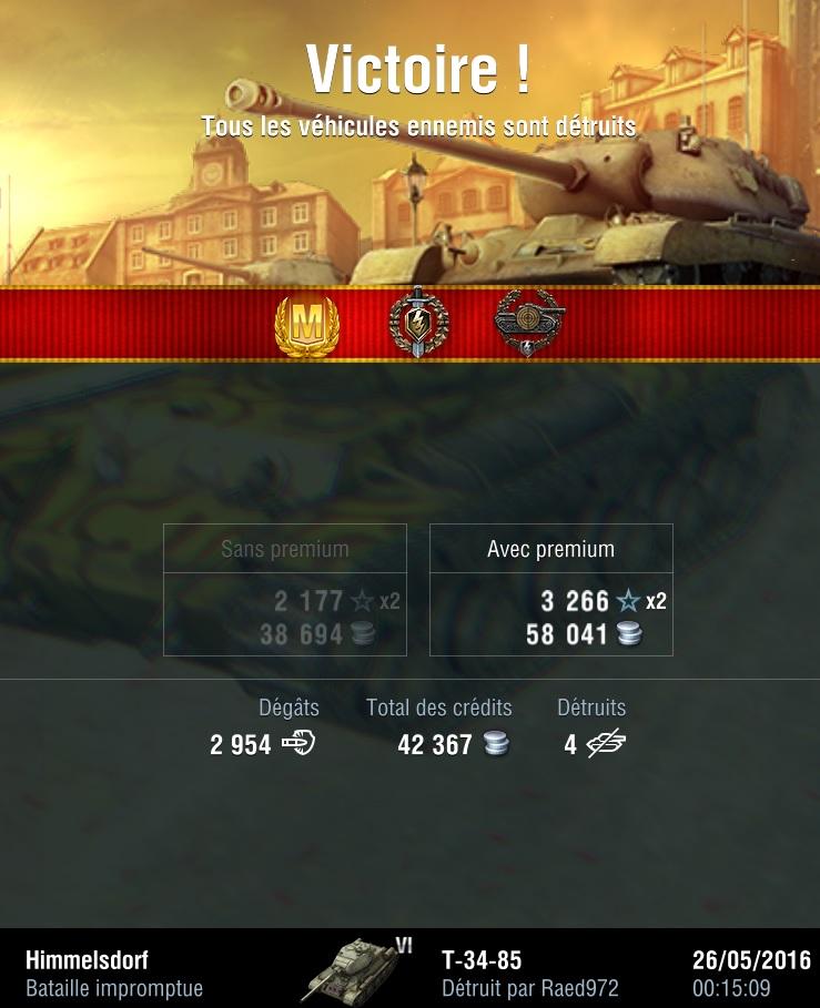 T34-85 - Je suis mort stupidement sur ma derniere cible T34-8510