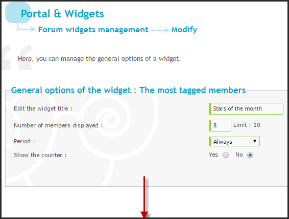NEW: The most tagged keywords and the most tagged members widgets  Zz10