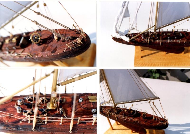 Materiali poveri.  Modelli di navi e barche in corteccia di pino e alberi in ottone. 410