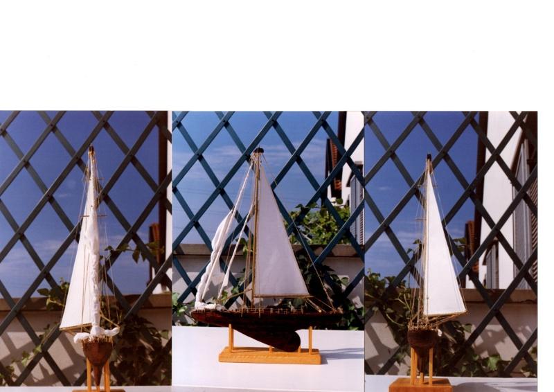 Materiali poveri.  Modelli di navi e barche in corteccia di pino e alberi in ottone. 610