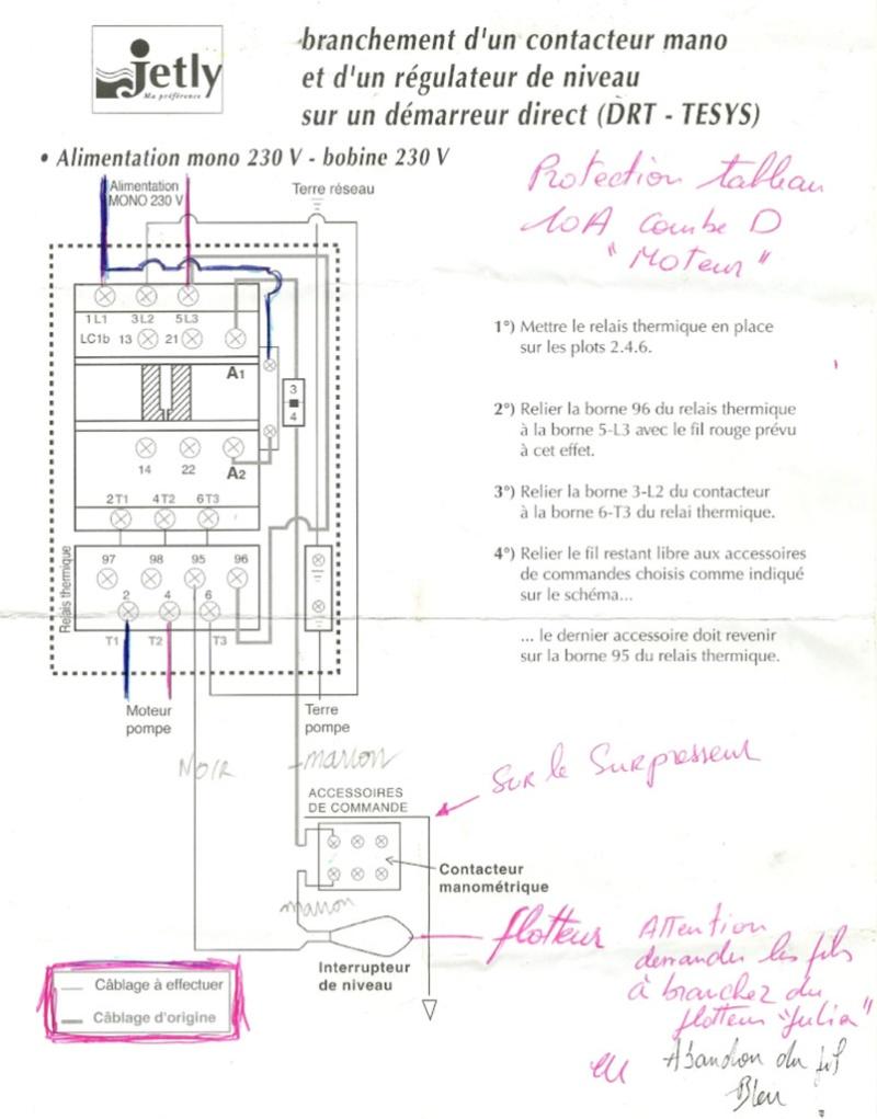 Cablage départ moteur mono Schema10