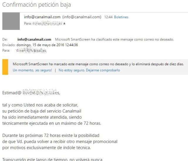 Correos de - Canalmail -. Baja_310