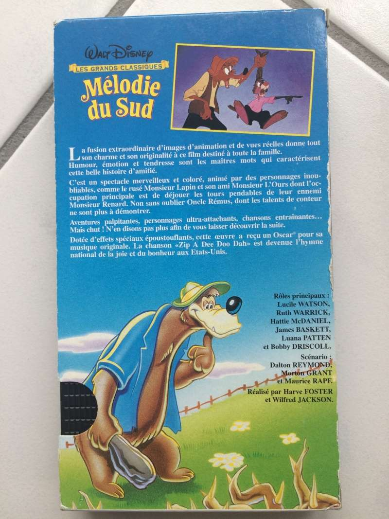 Mélodie du sud VHS boîte en carton  Img_3111