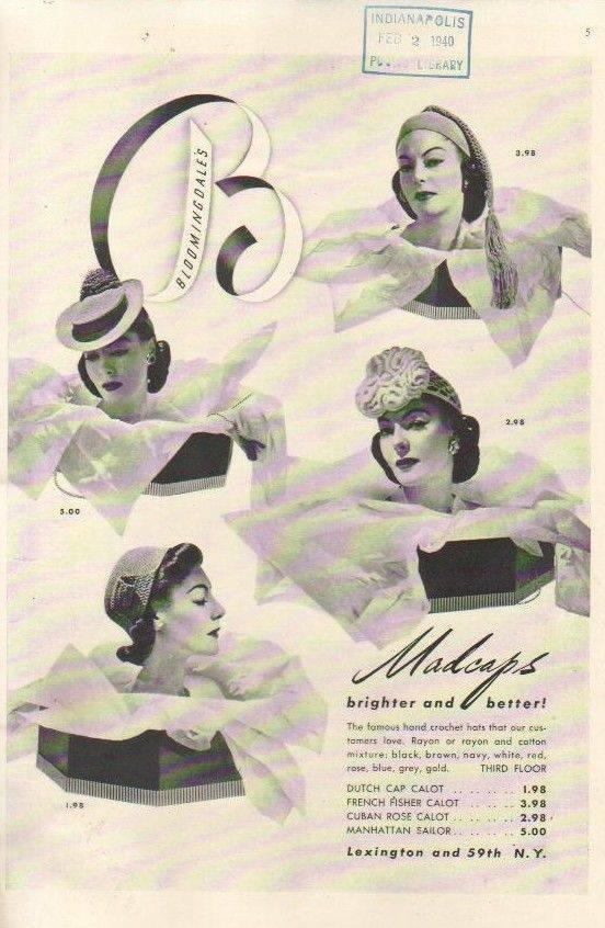 Et elle avait ! elle avait ! elle avait un chapeau rigolo ! et une drôle de petite robe... LA MODE PENDANT LA GUERRE EN FRANCE ET COTE US 10256511