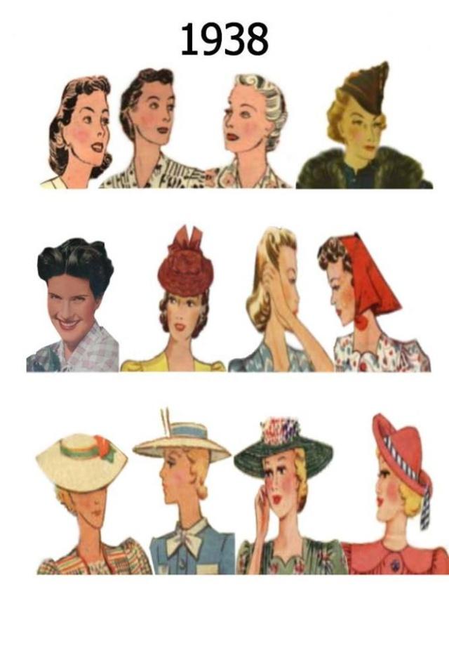 Et elle avait ! elle avait ! elle avait un chapeau rigolo ! et une drôle de petite robe... LA MODE PENDANT LA GUERRE EN FRANCE ET COTE US 12961611