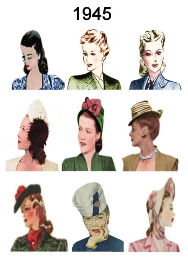 Et elle avait ! elle avait ! elle avait un chapeau rigolo ! et une drôle de petite robe... LA MODE PENDANT LA GUERRE EN FRANCE ET COTE US 12974311