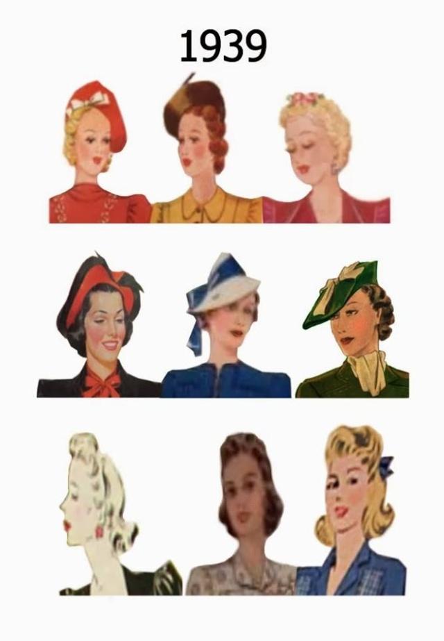 Et elle avait ! elle avait ! elle avait un chapeau rigolo ! et une drôle de petite robe... LA MODE PENDANT LA GUERRE EN FRANCE ET COTE US 12990911