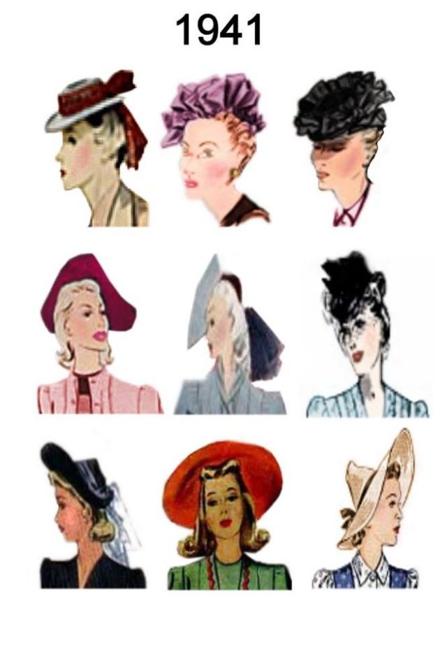 Et elle avait ! elle avait ! elle avait un chapeau rigolo ! et une drôle de petite robe... LA MODE PENDANT LA GUERRE EN FRANCE ET COTE US 12994411