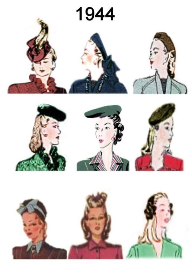 Et elle avait ! elle avait ! elle avait un chapeau rigolo ! et une drôle de petite robe... LA MODE PENDANT LA GUERRE EN FRANCE ET COTE US 12998511