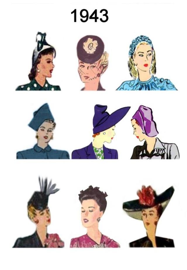 Et elle avait ! elle avait ! elle avait un chapeau rigolo ! et une drôle de petite robe... LA MODE PENDANT LA GUERRE EN FRANCE ET COTE US 13010711