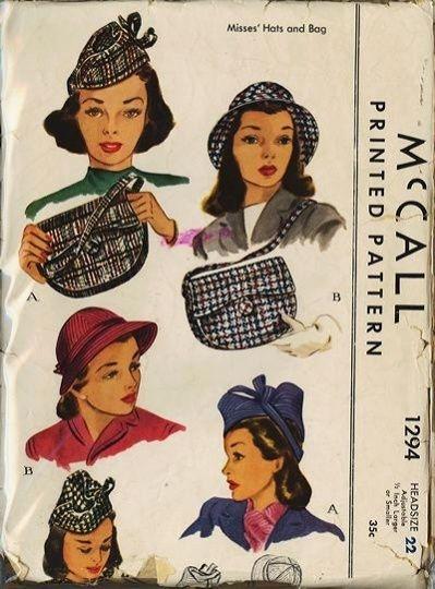 Et elle avait ! elle avait ! elle avait un chapeau rigolo ! et une drôle de petite robe... LA MODE PENDANT LA GUERRE EN FRANCE ET COTE US 19193510