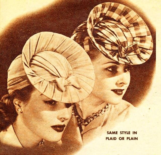 Et elle avait ! elle avait ! elle avait un chapeau rigolo ! et une drôle de petite robe... LA MODE PENDANT LA GUERRE EN FRANCE ET COTE US 19369710