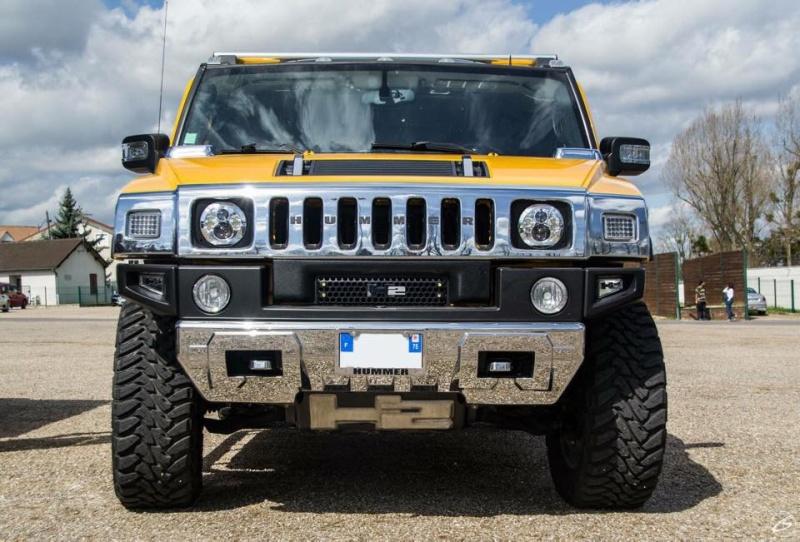 Mon Hummer H2 jaune  11150110