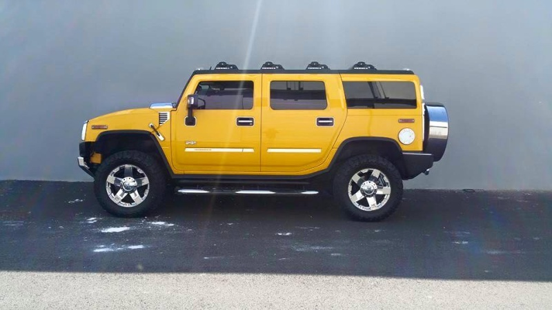 Mon Hummer H2 jaune  11258010