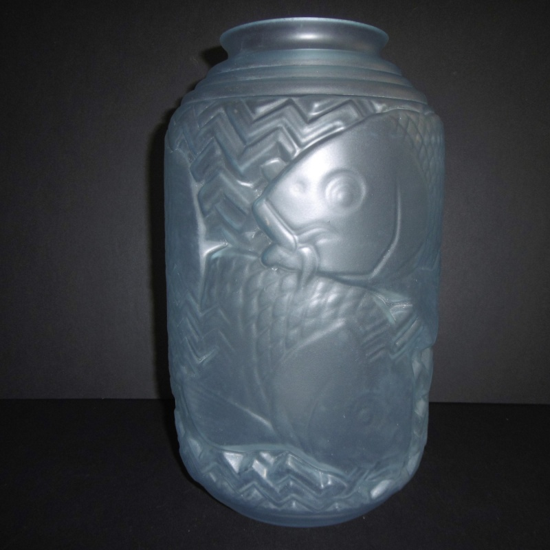Art Deco 1920-30's Frosted glass Vase..Unusual shape-Chinese Lantern P1170622