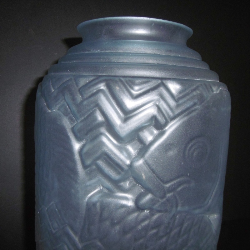 Art Deco 1920-30's Frosted glass Vase..Unusual shape-Chinese Lantern P1170625