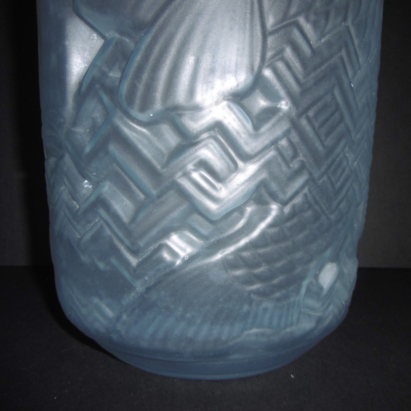 Art Deco 1920-30's Frosted glass Vase..Unusual shape-Chinese Lantern P1170627