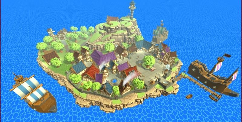 Hand-Painted Village Pack -- 315 Modular Assets -- Image Heavy! 110