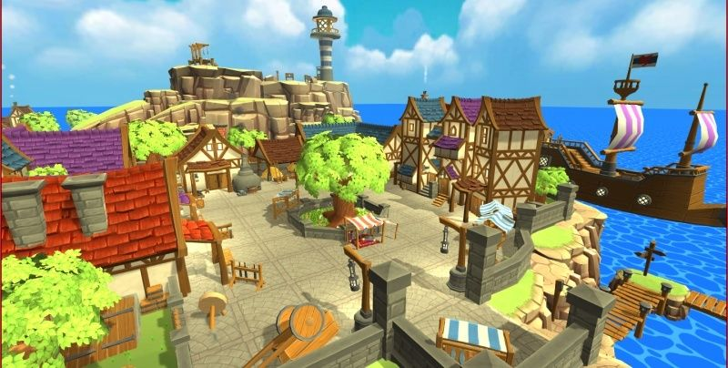 Hand-Painted Village Pack -- 315 Modular Assets -- Image Heavy! 210
