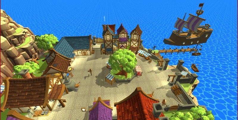 Hand-Painted Village Pack -- 315 Modular Assets -- Image Heavy! 510