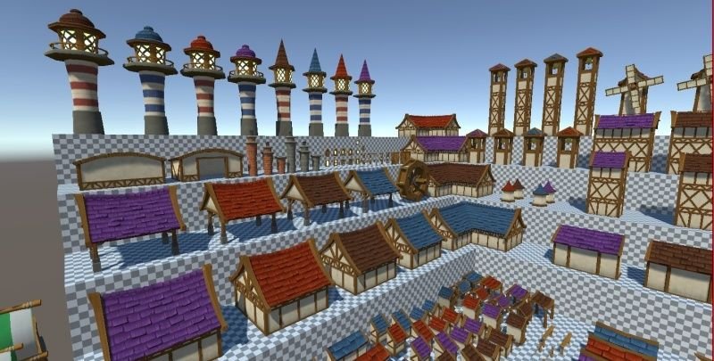 Hand-Painted Village Pack -- 315 Modular Assets -- Image Heavy! 710