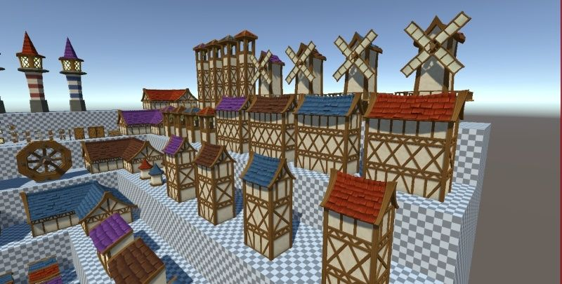 Hand-Painted Village Pack -- 315 Modular Assets -- Image Heavy! 810