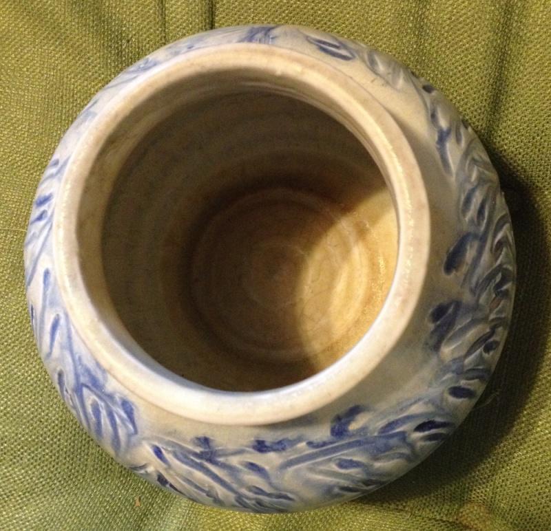 """Mystery art pottery vase  by """"LOU""""? Lou610"""