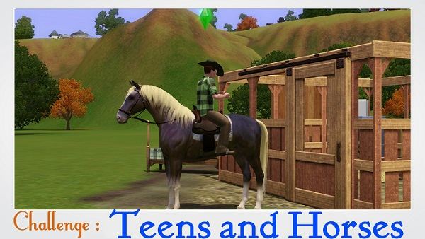 "[Challenge] Teens and Horses ""Sims 3"" Theme11"