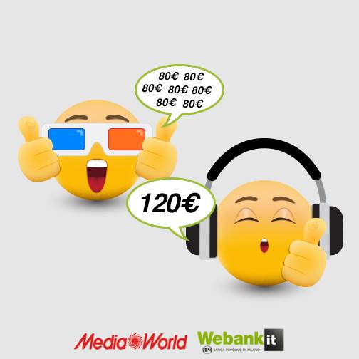 WEBANK regala BUONI TOTALERG-eBAY-DOVECLUB-MEDIAWORLD-MADE.COM € 120 se presentati [scaduta il 20/09/2016] Aaa11