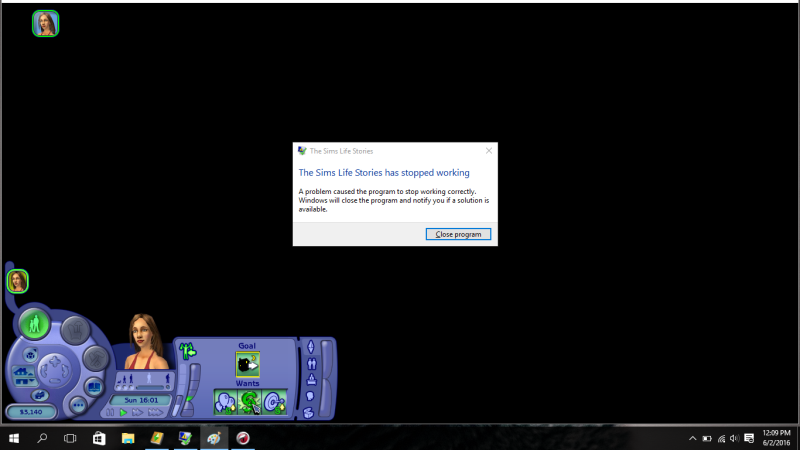 The Sims Life Stories has stopped working Sims_l10