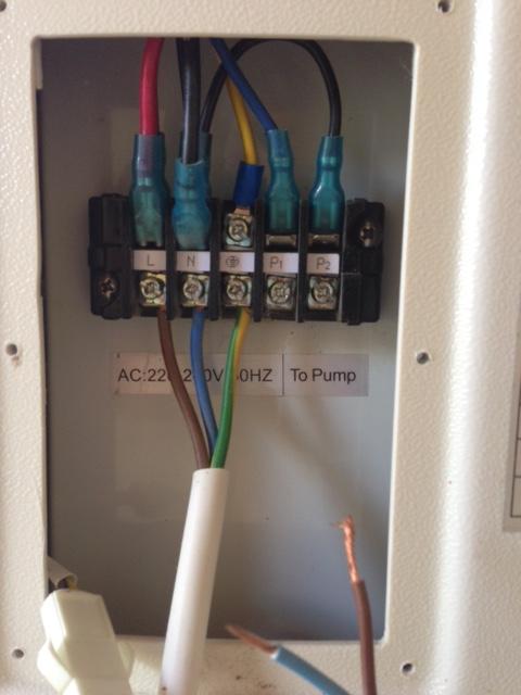 Branchement électrique Pac poolex dreamline 95 Bornie10