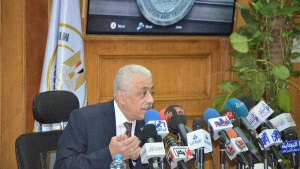 """دكتور شوقى يعقد مؤتمرًا صحفيًا غدًا ظهرًا لتحديد مصير الصف الثانى الثانوى سؤاء """"تراكميًا أو نقل عادى 28810"""