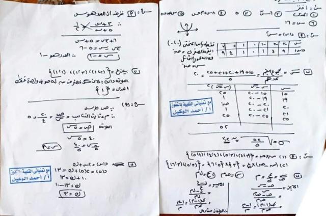 امتحان جبر عربى ولغات لمحافظة القاهرة ترم أول2019 50985910