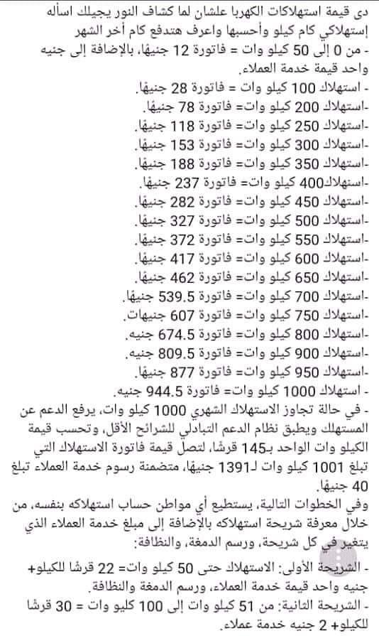 ننشر أسعار الكهرباء حسب الإستهلاك حتى لا تصل لمرحلة منع الدعم التموينى 56424310