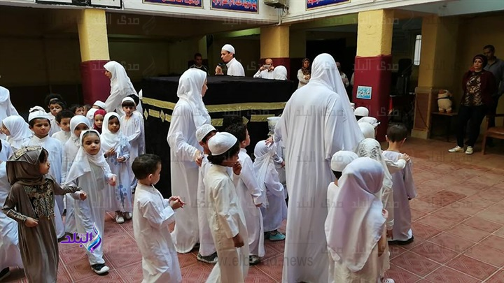 محاكاة للواقع - تلاميذ رياض أطفال يؤدون مشهد الحج والأضحية 6310
