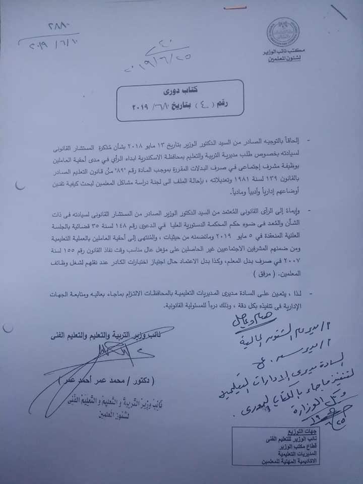 ألف مبروك لجميع الزملاء المشرفين الإجتماعي نشر إقرار الكادر 65988010