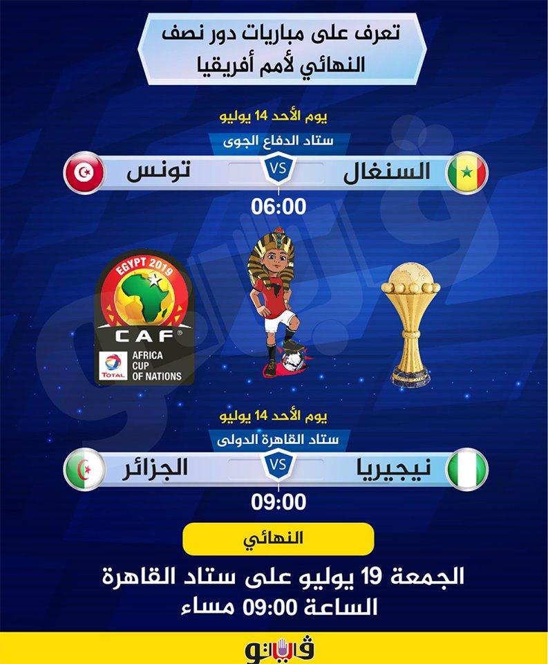 موعد مباريات قبل النهائى أمم إفريقيا2019 66598410