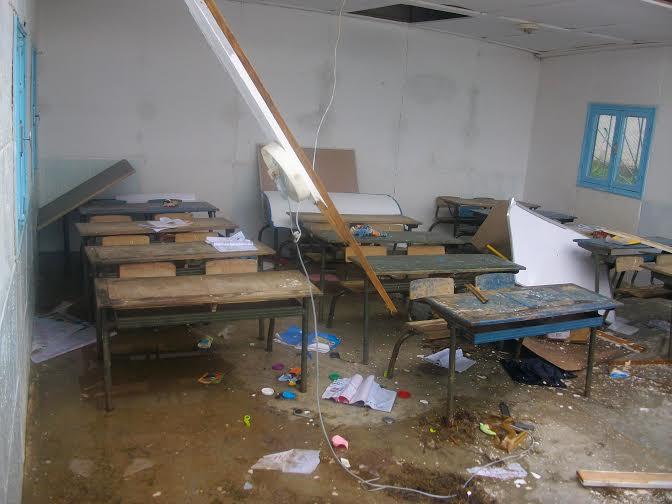 سقف مدرسة متهالكة يسقط على الطالبات اليوم الأحد ( أول يوم دراسة ) بكفر الشيخ 71314510