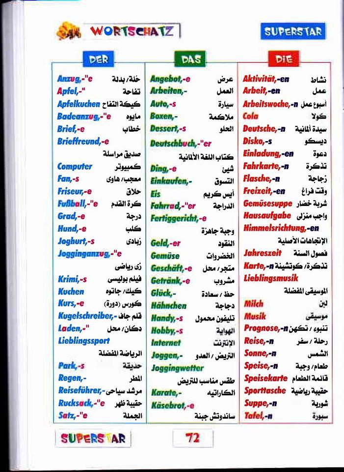 أهم كلمات اللغة الألمانية للصف الثانى الثانوى أربع ورقات 75534910