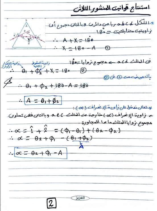 أسئلة متوقعة و مجابة فزياء للمهندس أحمد جمال لتانية ثانوى 2020 76726010