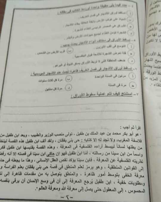 الإمتحان الورقى للصف الأول الثانوى لغة عربية على السوشيال ميديا قبل انتهاء الوقت الأصلى 82093710
