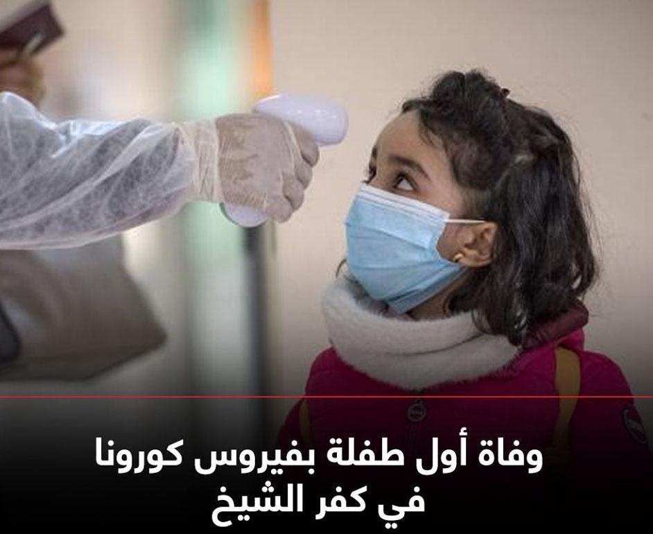 """وفاة فاطمة"""" أول طفلة ضحية لكورونا بكفر الشيخ 82318810"""