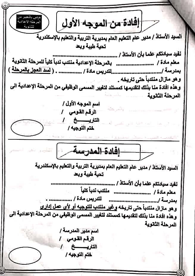 ننشر أوراق تغيير المسمى الوظيفي بمحافظة الاسكندرية 83065910