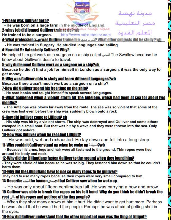 حصريًا سؤال القصة الإنجلش الخاص بإمتحان الغد للصف الثانى الثانوى المتوقع فى التعبير و الترجمة وعيرها 88727610