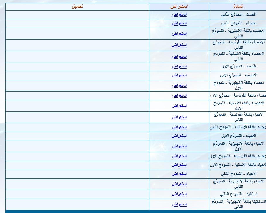 نماذج الوزارة لكل امتحانات الثانوية العامة كل المواد ومجاب عنها Aay11