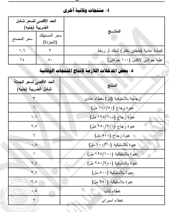 الجريدة الرسمية تعلن اسعار المعقمات ومجلس الوزراء يعلن  غرامة من 100 ألف إلى 5 ملايين جنيه لمن لا يعلن أسعار منتجات التعقيم Fb_img25