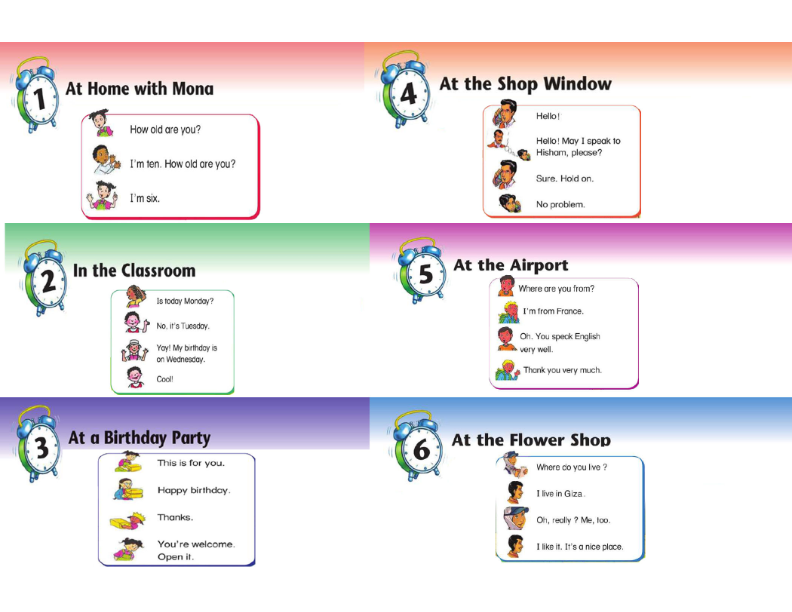 مراجعة لغة انجليزية الصف الثالث الإبتدائي كلمات - محادثات - قواعد في 4 ورقات فقد O_2_0010